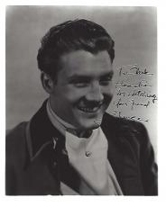 "GEORGE REEVES as BRENT TARLETON in ""GONE WITH THE WIND"" (Inscribed to a Fan) Passed Away 1959 - Signed 8x10.5 B/W Photo"