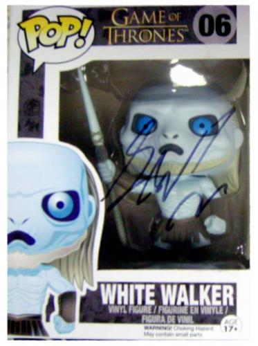 George RR Martin autographed Game of Thrones White Walker Pop Toy Figure on box