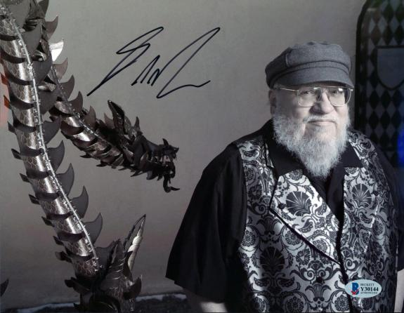 George R.R. Martin Game of Thrones Signed 8.25x11 Photo BAS #Y30144