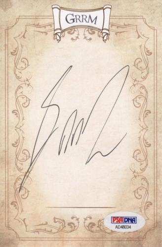 George R.r. Martin Game Of Thrones Signed Grrm Bookplate Psa Coa Ad48034