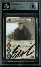 George R.R. Martin Game of Thrones Signed Trading Card BAS Slabbed #10224591
