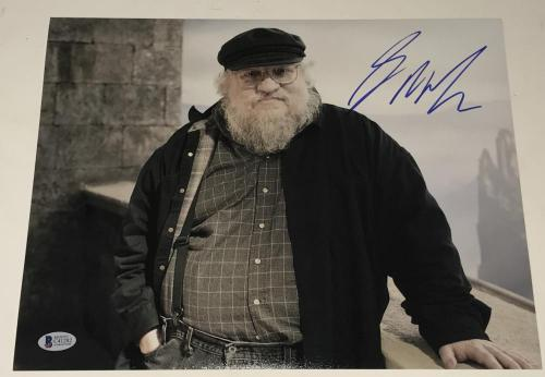 George R.r. Martin Signed 11x14 Photo Authentic Auto Game Of Thrones Becket Coa