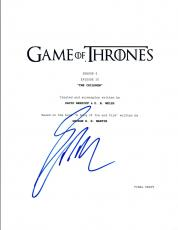 """George R.R. Martin Signed Autograph Game of Thrones """"The Children"""" Script COA VD"""