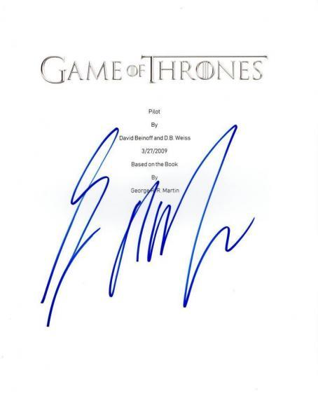 George R.r. Martin Signed Game Of Thrones Pilot Script Authentic Autograph Coa