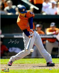 George Springer Houston Astros Autographed 16'' x 20'' Hitting Baseball Photograph