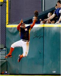 George Springer Houston Astros Autographed 16'' x 20'' Wall Catch Photograph
