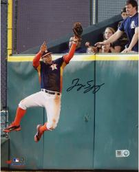 George Springer Houston Astros Autographed 8'' x 10'' Wall Catch Photograph