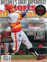 George Springer Houston Astros Autographed Your 2017 World Series Champs Sports Illustrated Magazine