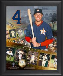 George Springer Houston Astros Framed 16'' x 20'' Film Strip Composite with Piece of Game-Used Ball-Limited Edition of 500