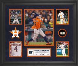 George Springer Houston Astros Framed 5-Photo Collage with Piece of Game-Used Ball