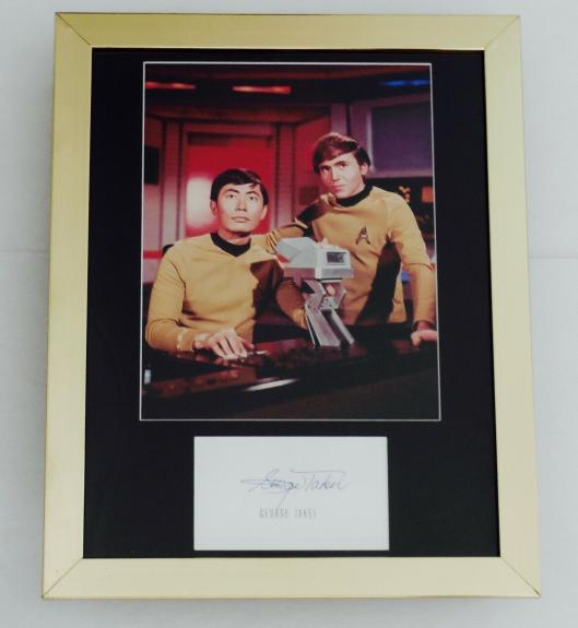 George Takei Autographed 8x10 Photo Display (framed & Matted) - Star Trek!