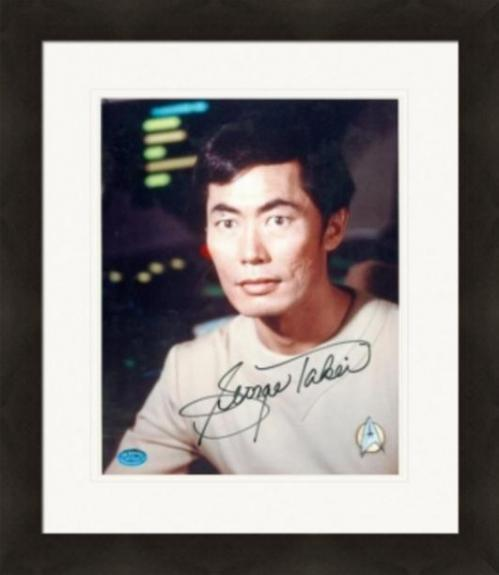George Takei autographed 8x10 Photo (Star Trek Sulu) Image #1 Matted & Framed