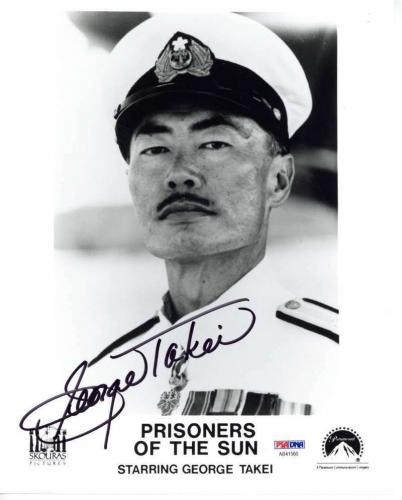 George Takei Signed Autographed 8x10 Prisoners of the Sun Photograph PSA/DNA