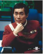 George Takei Signed Star Trek VI The Undiscovered Country Sulu 8x10 Photo