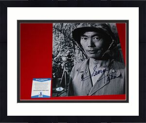 GEORGE TAKEI star trek signed BECKETT 11x14 hikaru sulu mulan the green berets 2
