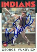 George Vikovich autographed Baseball Card (Cleveland Indians) 1986 Topps #483