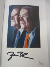 "George W Bush 41 ""Portrait of my Father"" autographed hardcover book JSA COA"