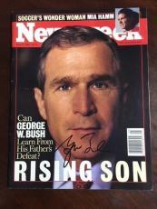 "George W. Bush, ""Autographed"", 1999 Newsweek Magazine (JSA Letter)"