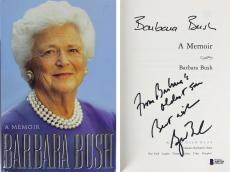 George W. Bush & Barbara Bush Signed Hard Cover Book BAS #A85720