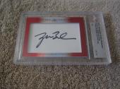 George W Bush & Laura Bush 2015 Leaf Masterpiece cut signature auto card 1/1 JSA