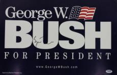 George W. Bush Signed 12.5x19 Campaign Sign Poster Psa/dna #w04824