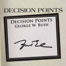 George W Bush Signed 2010 Decision Points Hardback Book JSA