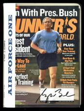 George W. Bush Signed Air Force One Runners World Magazine Cover JSA #Z25694