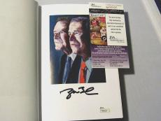 George W. Bush Signed Auto Hardbook Book 41 Portrait Of My Father Jsa Authentic