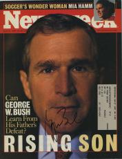 George W Bush Signed Autographed Newsweek Cover Jsa Coa Spence Rare!!!