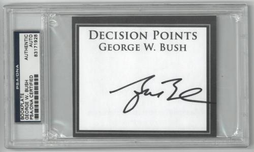 George W. Bush signed Decision Points Bookplate- PSA Encapsulated #83171928 (President)