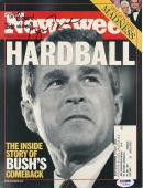 George W. Bush Signed NEWSWEEK Cover Autograph Auto PSA/DNA Y03606