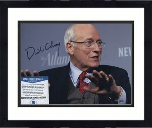 George W Bush Vice President Dick Cheney Signed Photo Beckett Bas Coa
