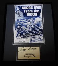 George Wallace Signed Framed Commando Cody Radar Men From Moon Poster Display