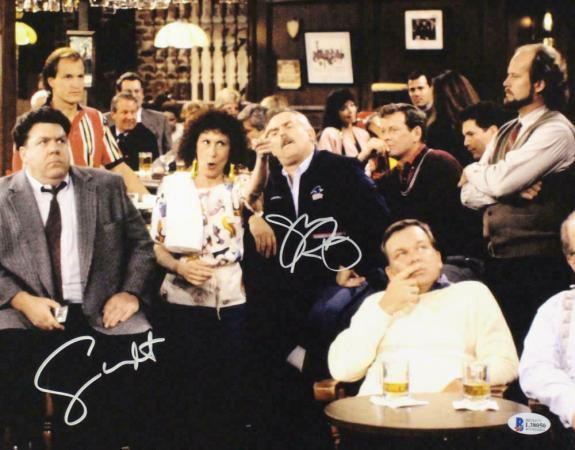 George Wendt & John Ratzenberger Autographed/Signed 11x14 Photo Cheers BAS 22115