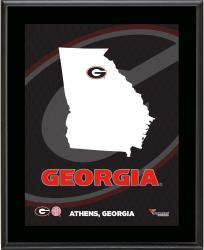 GEORGIA BULLDOGS (STATE) 10x13 PLAQUE (SUBL) - Mounted Memories
