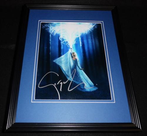 Georgina Haig Signed Framed 8x10 Photo AW Once Upon a Time Frozen Elsa B