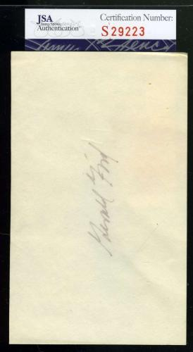 Gerald Ford Jsa Coa Hand Signed 3x5 Index Card Authentic Autograph