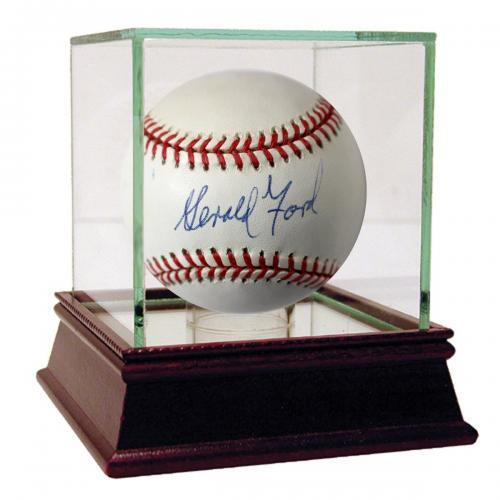 Gerald Ford Signed OAL Budig Baseball (JSA)