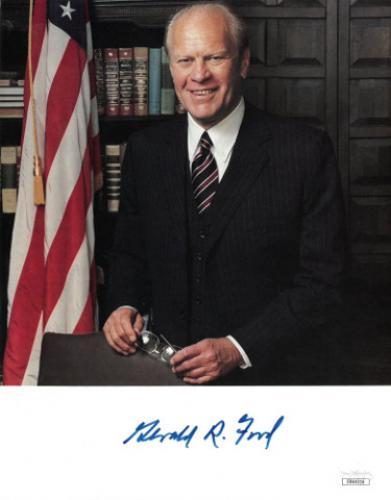 Gerald Ford signed U.S. President 8x10 Photo minor dings- JSA Hologram #DD64316