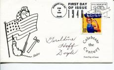 Geraldine Doyle WWII War We Can Do It! Rosie the Riveter Signed Autograph FDC