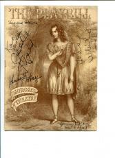 Geraldine Fitzgerald Karl Malden Jesse White Ken Tobey Signed Autograph Playbill