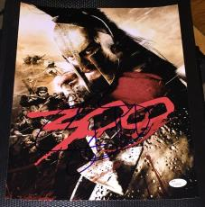 "Gerard Butler Signed Autograph Classic ""300"" Action Promo 11x14 Photo Jsa L74025"