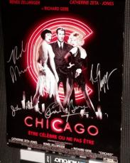 """Gere Zellweger Reilly Marshall Cast Signed Autograph """"chicago"""" Full Movie Poster"""