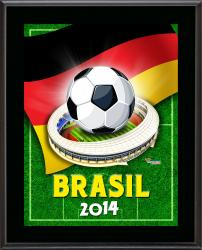 """Germany 2014 Brazil Sublimated 10.5"""" x 13"""" Plaque"""