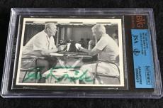 Gert Frobe Signed 1965 James Bond Goldfinger Card Autograph Jsa/bvs Bgs