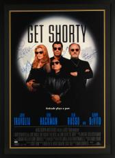 "Get Shorty Autographed Framed 33"" x 45"" Movie Poster With 4 Signatures - Beckett COA"