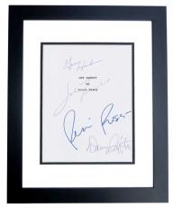 GET SHORTY Autographed Script Cover by John Travolta, Gene Hackman, Danny DeVito, and Rene Russo BLACK CUSTOM FRAME