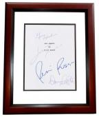 GET SHORTY Signed - Autographed Script - Guaranteed to pass PSA or JSA Cover by John Travolta, Gene Hackman, Danny DeVito, and Rene Russo MAHOGANY CUSTOM FRAME - Guaranteed to pass PSA or JSA