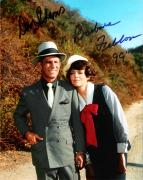 "Don Adams Signed Photograph - GET SMART"" by as MAXWELL SMART BARBARA FELDON as AGENT 99 8x10 Color"