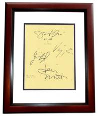 G.I. Jane Autographed Script Cover by Demi Moore, Jason Beghe, Viggo Mortensen, and Jim Caviezel MAHOGANY CUSTOM FRAME
